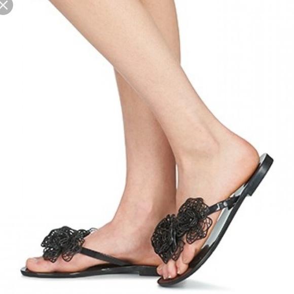 b228986af5e07 Melissa harmonic garden II flower sandals sz 7. M 5bd93e0f5c44526a93666f01